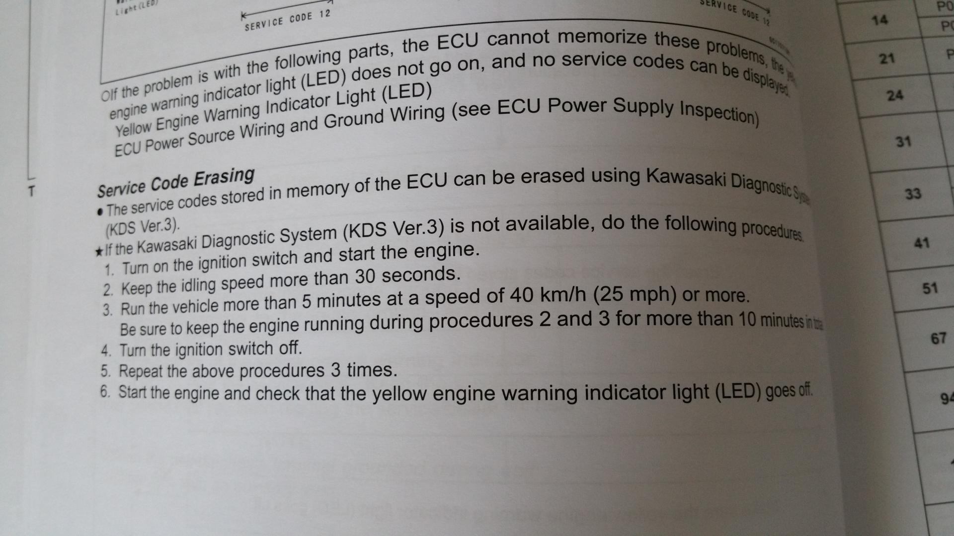 Z125 check engine light  - Kawasaki Z125 Forum
