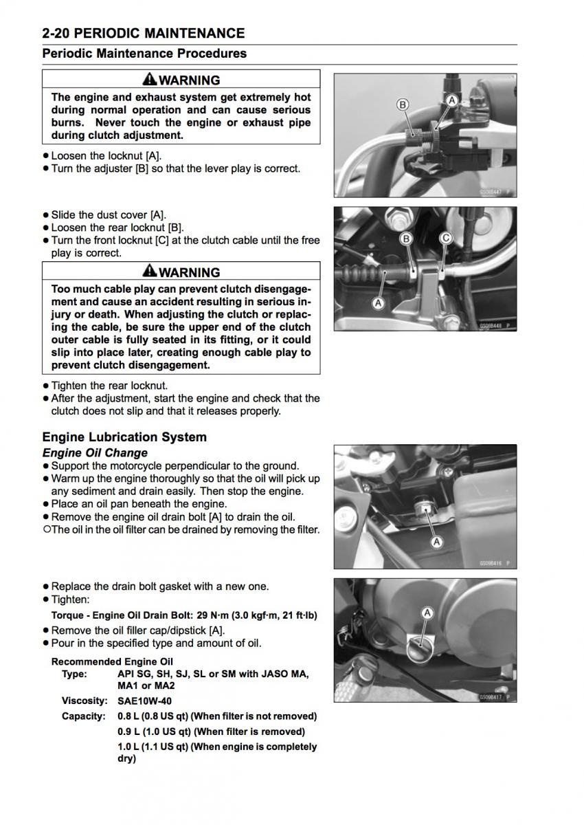 maintenance oil change procedure kawasaki z125 forum rh z125owners com Kawasaki Small Engine Carburetor Kits Kawasaki Engine Troubleshooting