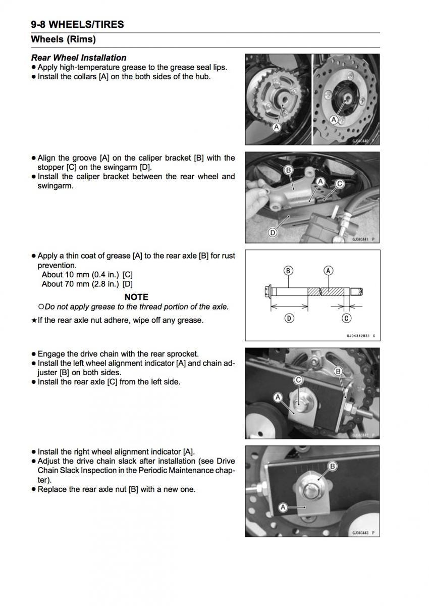 monday morning maintenance wheel removal and installation rh z125owners com Kawasaki Ninja Forums kawasaki owners manual for rzt 50